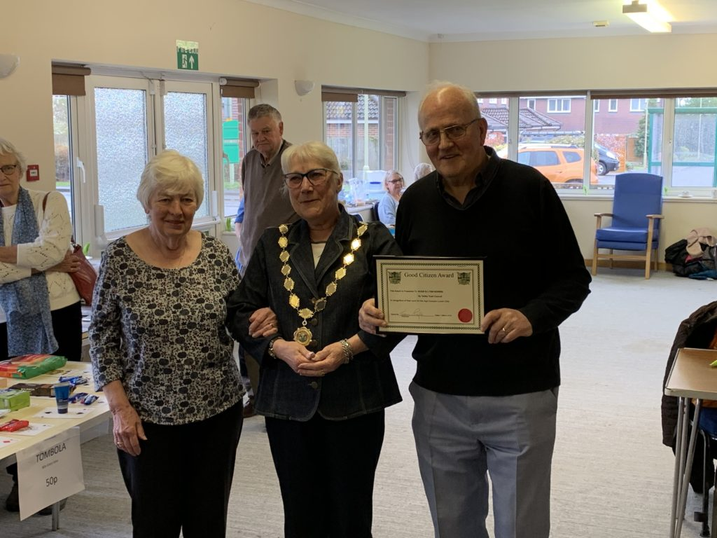 Hugh and Lyn Norris receive their Good Citizen Award